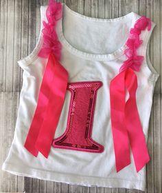 custom baby girl birthday one year tank pink ribbon princess cake smash ebay