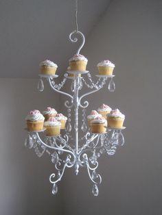 Chandelier Cupcake Stand!  www.shabulouschandeliers.com