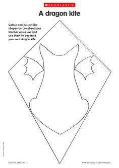 Kite Dragon template