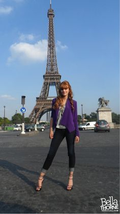 in front of the Eiffel Tower