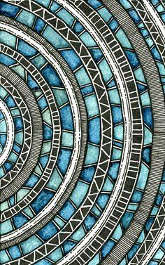 Très représenté dans l'art religieux bouddhiste et hindouiste, le mandala est une expression artistique du cercle que constitue la communauté, la société. La technique du Zendoodle permet de reproduire des mandalas au design complexe sur des pièces de céramique. Cette version colorée a de quoi charmer!