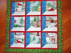 Sunshine in the Attic: CHRISTMAS IN JULY! CHRISTMAS WINDOWS WALL HANGING tutorial