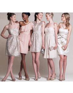 Jenny yoo bridesmaid dresses mix and match nude and pink #dreamweddingbox @Matty Chuah Wedding Notebook