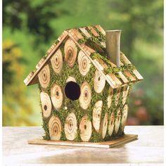 Moss Edged Bird House – Baubles-N-Bling