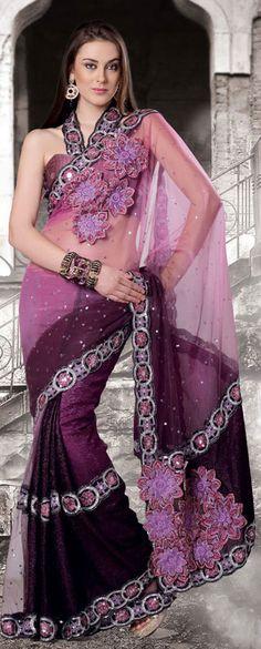 Pretty Purple Indian Saree - Nice !!