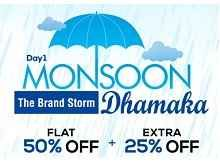 Fashionandyou Monsoon Sale Offer : Flat 50% Off + Extra 25% Off + Free Recharge Of Rs. 20 - Best Online Offer