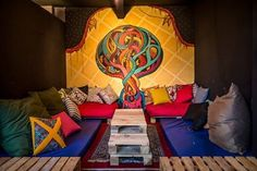 Jângal bar - painel do muralista Thiago Mazza