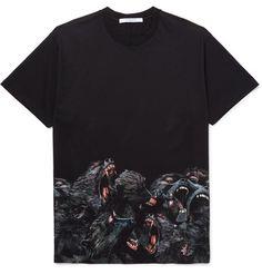 GIVENCHY Columbian-Fit Printed Cotton-Jersey T-Shirt. #givenchy #cloth #t-shirts