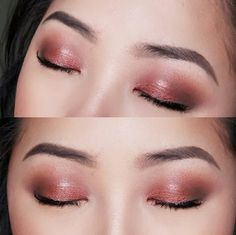soft shimmer rose gold eyes. follow me on my personal ig shirleyvang101