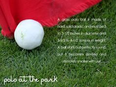 Info about the polo ball!
