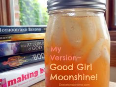 My Version ~ Good Girl Moonshine!, quart of ginger, cinnamon, ACV, hydrant, stay hydrated, feeling full between meals