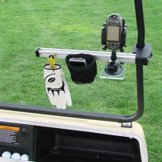 The Award Winning Golf Cart Organizer - Hammacher Schlemmer - Winner of the Best New Product Award at the PGA Merchandise Show, this is the golf accessory organizer that keeps golfing essentials readily accessible.