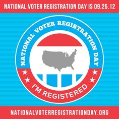 It's National Voter Registration Day! REPIN to encourage your family and friends to get registered. #925NVRD