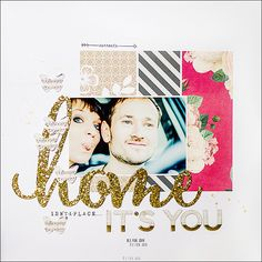 #papercraft #scrapbooking #layout - {love is...} by steffinchenb at @studio_calico