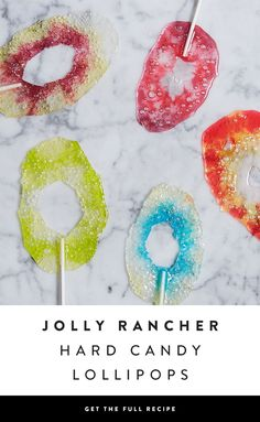 Introducing agate-designed lollipops. The best part? They're easy to make with JOLLY RANCHER candies — via @PureWow