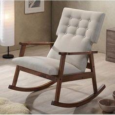Delicieux George Oliver Wyrick Rocking Chair Upholstery: Light Beige