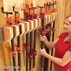 your workshop can easily turn into the clutter capital of your home. and clamps of every description are easy to lose and hard to find, especially when you