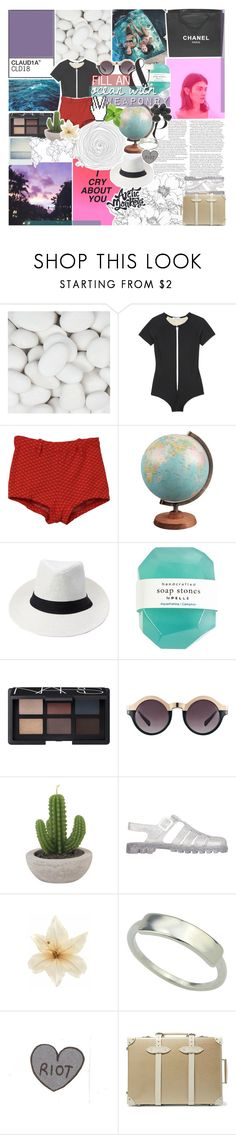 """""""watch the ocean with you"""" by kristen-gregory-sexy-sports-babe ❤ liked on Polyvore featuring Chanel, Cover, Care Label, NARS Cosmetics, ASOS, Polaroid, JuJu, Clips, Globe-Trotter and tmnbg"""