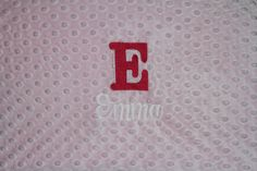 Personalized Premium Minky Dot Blanket by EmbroideryMark on Etsy