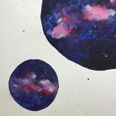 Milky Way watercolor painting!