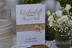 """Einladungskarten - Kirchenheft Umschlag Vintage Hochzeit """"Tilda"""" - ein Designerstück von majalino bei DaWanda"""