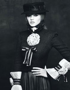 Lara Stone wearing Chanel by Steven Klein for W Magazine August 2009