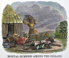 Pokken - Ziekte die de Europeanen meenamen naar de nieuwe wereld. Maar ook nog meer ziektes zoals de pest, tyfus, griep en mazelen.
