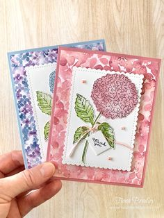 Thank you handmade card - Hydrangea Haven - Stampin' Up - Fiona Bradley Parts Of A Flower, Pearl Color, Coordinating Colors, My Stamp, Thank You Gifts, Card Sizes, Hydrangea, Card Stock, Stampin Up