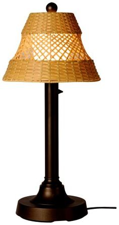 JAVA 16227 BRONZE 34-INCH TABLE LAMP WITH ANTIQUE HONEY SHADE  - Click image twice for more info - See a larger selection of tropical beach lamp at http://tablelampgallery.com/product-category/tropical-beach-table-lamps/ - home, home decor, home ideas, lightning, gift ideas, lamp.
