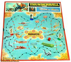 Thunderball James Bond board game via Cool and Collected