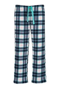 Navy plaid fleece plus size pants (original price, $29) available at #Maurices