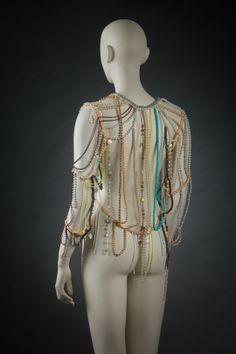 Martín Margiela S/S 2006, material;beads,imitación pero and cotton