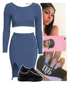 """lookin like a bag of money."" by theyknowtyy ❤ liked on Polyvore featuring Toby Heart Ginger and Puma"