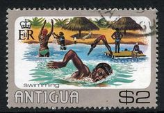 Stamp: Swimming (Antigua and Barbuda) (Water sports) Mi:AG 437,Sn:AG 443,Sg:AG 508