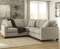 """Alenya - Quartz 2-Piece Sectional with Left Loveseat by Signature Design by Ashley; not a sleeper but dimensions are nice: 92"""""""