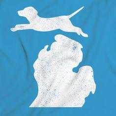 Bark Michigan Labrador Retriever shirt