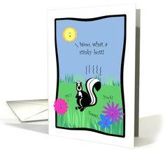 Cute Skunk, Stinky Butt, Happy Spring card (1054449)