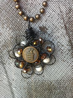 vintage elements, buttons, pearls, crystals...
