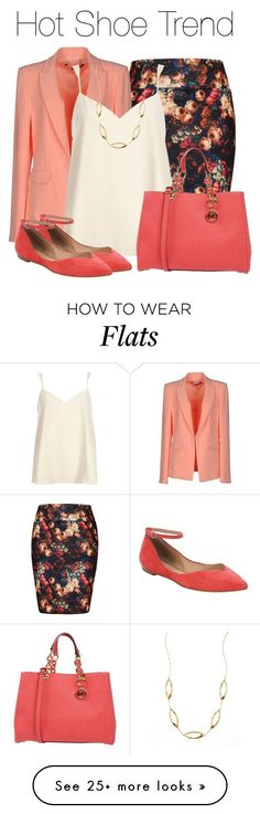 """So Stylish: Ankle Wrap Flats"" by earthlyangel on Polyvore featuring City Chic, Annarita N., River Island, belle by Sigerson Morrison, MICHAEL Michael Kors, Lana, contest and anklewrapflats Women, Men and Kids Outfit Ideas on our website at 7ootd.com #ootd #7ootd"