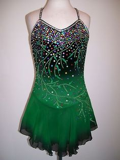 Custom Made TO FIT ICE Skating Dress Twirling Costume | eBay