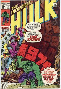 The Incredible Hulk Vol. 1 No. 135 - 1971 - Marvel Comics Comic Book by TheSamAntics on Etsy Hq Marvel, Marvel Comics Superheroes, Marvel Comic Books, Comic Books Art, Comic Art, Marvel Characters, Marvel Heroes, Captain Marvel, Vintage Comic Books