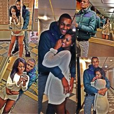 They are cute.. Offically the cutest couple.!