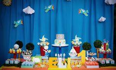 Mesa da festa infantil Aquarela - Foto: Juliana Gueiros