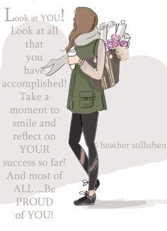 Smile and Reflect Cards for Women Art for door RoseHillDesignStudio
