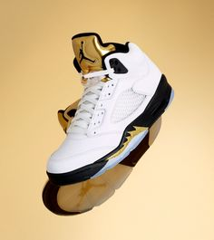 Air Jordan 5 Metallic Gold Release Date. The Metallic Gold Air Jordan 5 celebrates the 2016 Rio Olympics with White leather upper and Metallic Gold tongues. Nike Free Shoes, Nike Shoes Outlet, Converse All Star, Men's Converse, Michael Jordan, Cute Shoes, Me Too Shoes, Zapatillas Nike Jordan, Sneakers Fashion