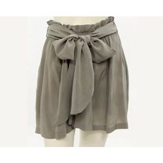 "Isabel Marant Etoile Taupe Silk Skirt HP Beautiful flowing mini skirt constructed of 100% silk by Isabel Marant. Elastic, gathered waist, with removable tie belt. Two slit pockets. Length is 17.75"". Isabel Marant Skirts Mini"