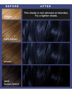 Discover Colorista's Blue Black permanent hair dye gel, expertly blended for a high intensity colour result. Girl Hair Colors, Hair Color For Black Hair, Cool Hair Color, Blue Hair Black Girl, Navy Hair, Fox Hair Dye, Dyed Hair, Midnight Blue Hair, Indigo Hair