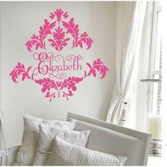 Alphabet Garden Designs Tres Chic Damask Wall Decal - MONO121