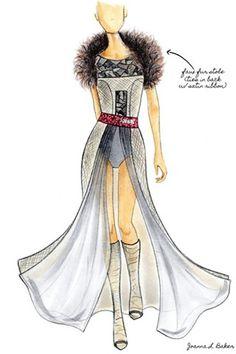 My winning sketch for the Christian Louboutin/Bergdorf Goodman Design Competition @JoannaLBaker