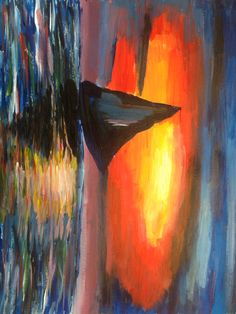 Acrylic sunset Sunset, Projects, Painting, Art, Craft Art, Paintings, Kunst, Sunsets, Gcse Art